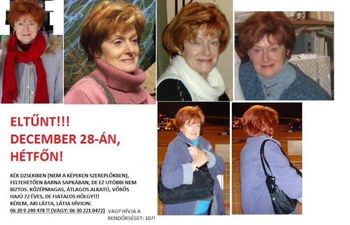 Eltűnt egy idős hölgy az Egressy térről