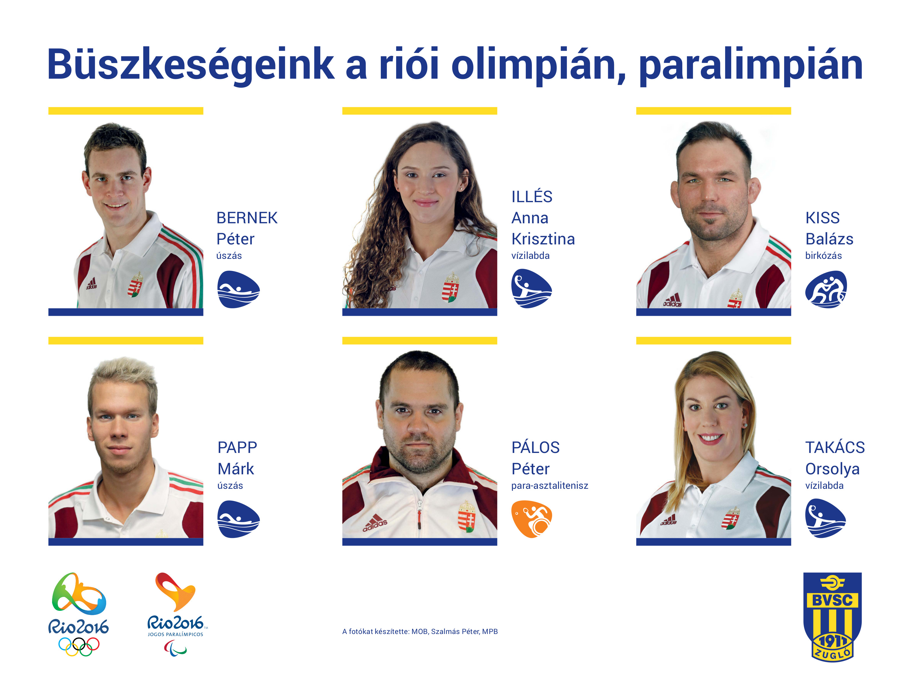 A BVSC Zugló olimpikonjai (Fotó: Szalmás Péter)