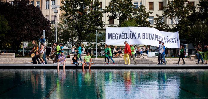 Budapest fáiért tüntettek civil szervezetek