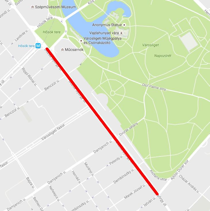Akadozhat a forgalom a Dózsa György úton