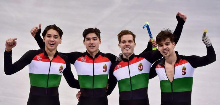 Aranyérmes a magyar váltó a téli olimpián
