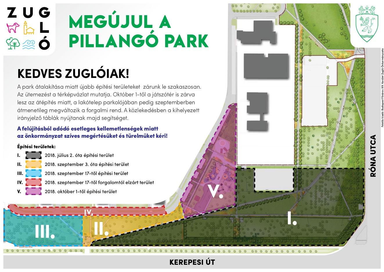 Megújul a Pillangó park – újabb építési területeket zárnak le