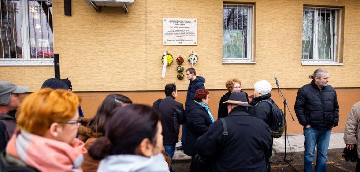 Felavatták Gyurkovics Tibor emléktábláját