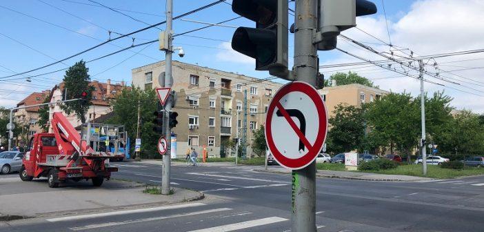 Forgalmirend-változás a Thököly út-Róna utca kereszteződésében