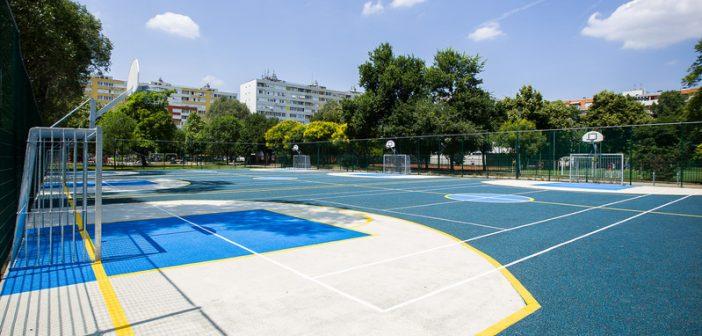 Már a sportpálya is használható a Pillangó parkban