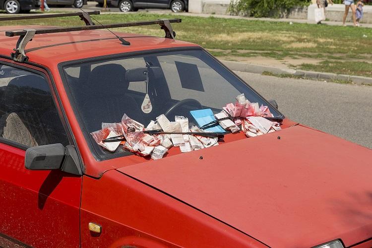 Elhagyott autók Zuglóban