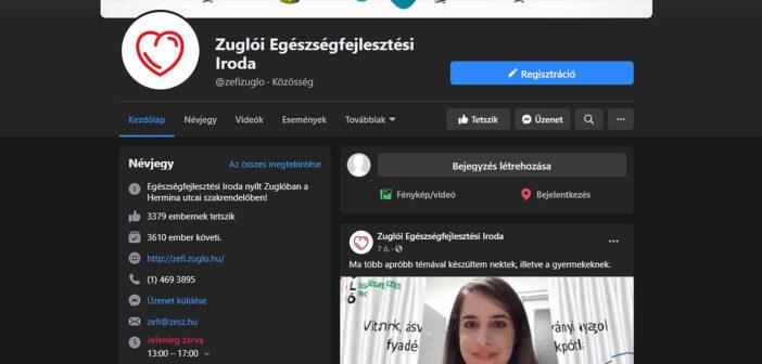 Ismét online egészségnapot tart a ZEFI