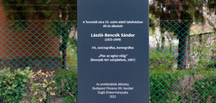 Emlékoszlopot emeltek László-Bencsik Sándornak