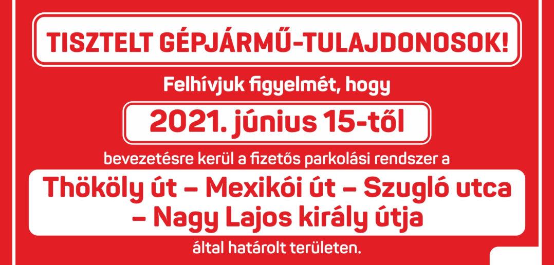 Bővül a fizetős zóna - plakát