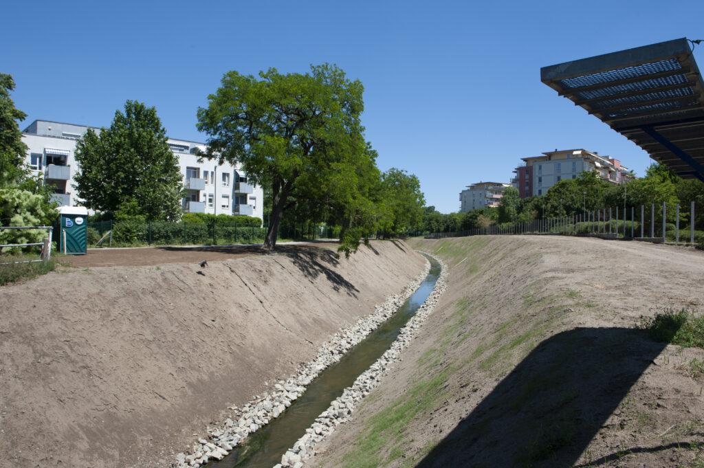 Revitalizáció után a Rákos-patak
