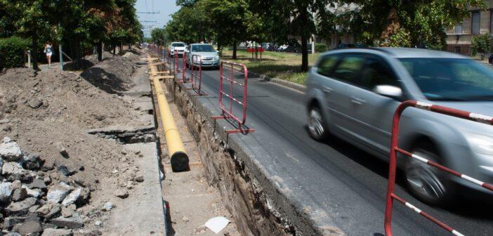Rónai utcai közműfelújítás